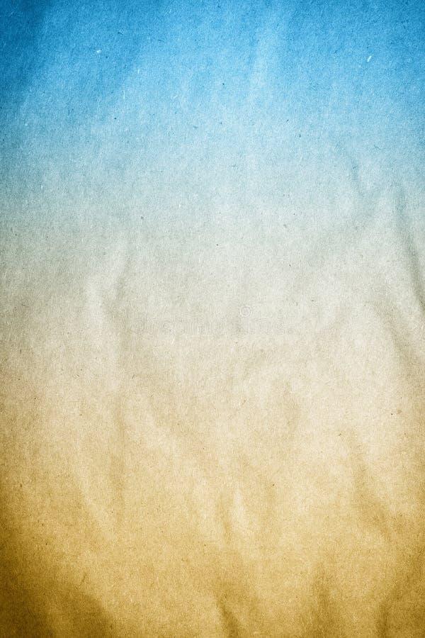 Vieja textura del documento de información de Brown azul imagenes de archivo