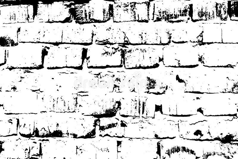 Vieja textura del ladrillo del Grunge Ejemplo blanco y negro del vector libre illustration