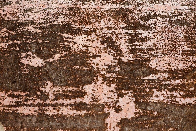 Vieja textura del moho del hierro del metal Textura del fondo del acero aherrumbrado fotografía de archivo