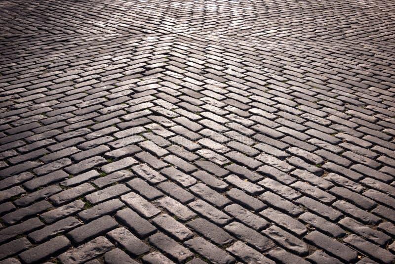 Vieja textura del pavimento imagen de archivo libre de regalías