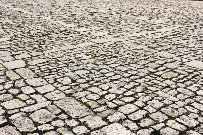 Vieja textura del pavimento de la ciudad fotografía de archivo