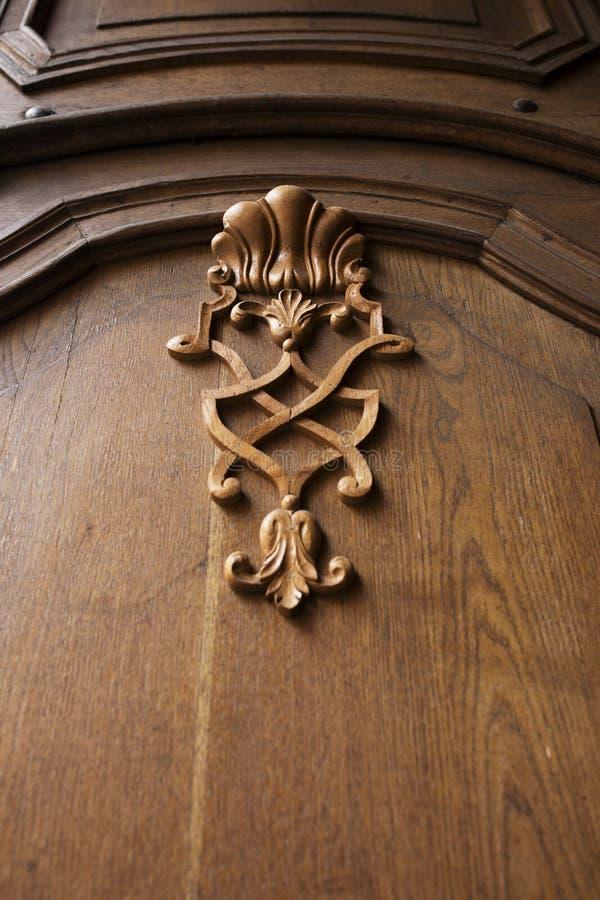 Vieja textura del vintage en una puerta de madera imagenes de archivo