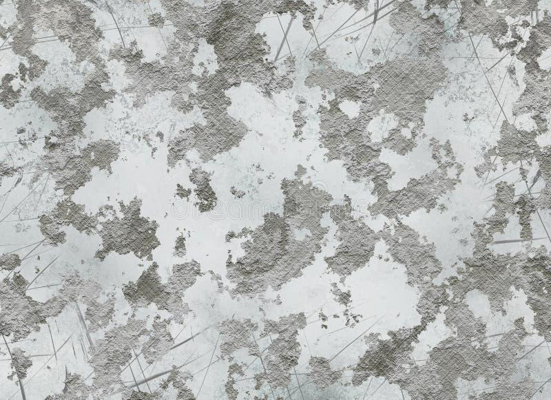 Vieja textura enyesada de la migaja de una pared seca ilustración del vector
