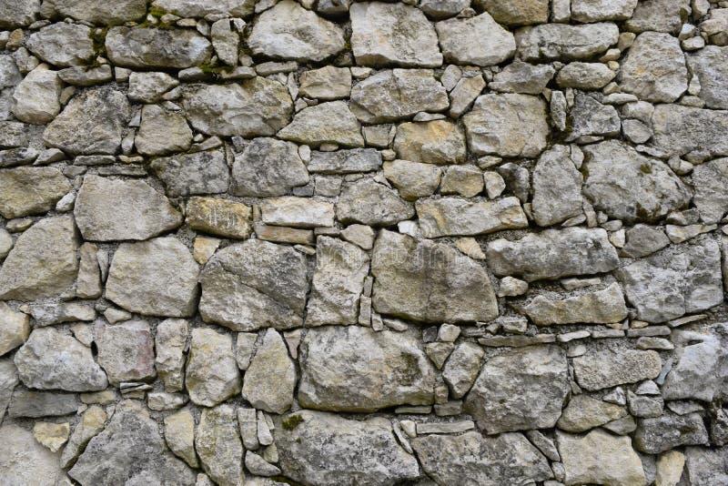 Vieja textura gris de la pared de piedra imagen de archivo libre de regalías