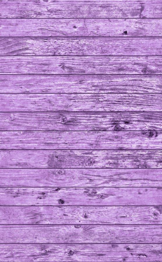 Vieja textura gruesa anudada rústica resistida del Grunge de pino del tablaje púrpura de madera foto de archivo libre de regalías