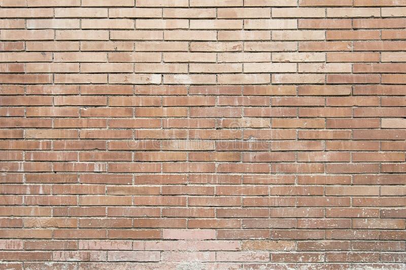 Vieja textura pintada del fondo de la pared del ladrillo rojo imagen de archivo