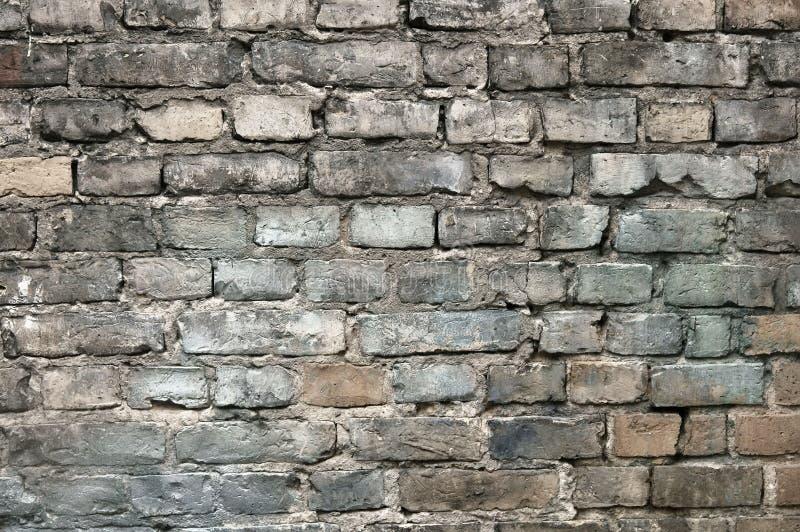 Vieja textura pintada del fondo de la pared de ladrillo foto de archivo libre de regalías