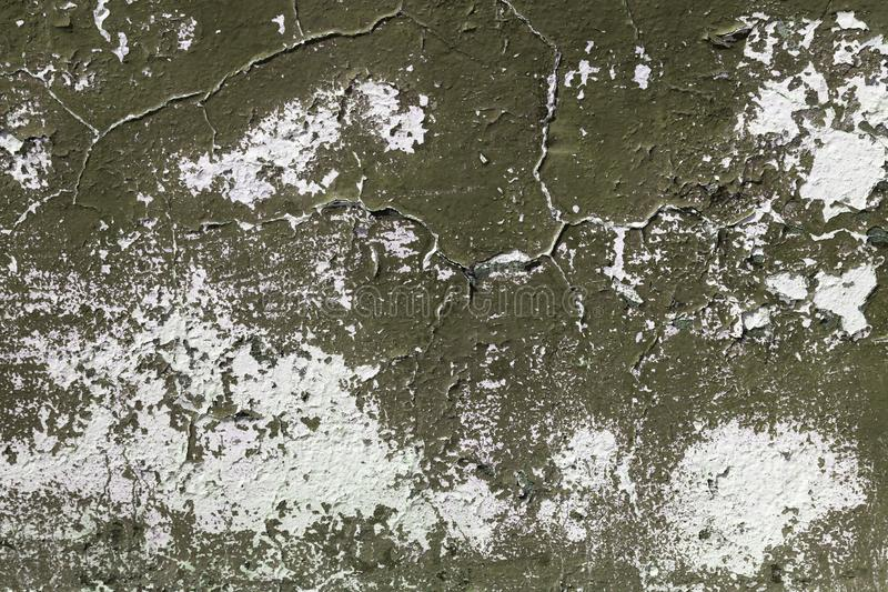 Vieja textura vac?a del arte de la pared de ladrillo del yeso Mala superficie rasgu?ada pintada en grietas del estuco pintado de  imagen de archivo libre de regalías