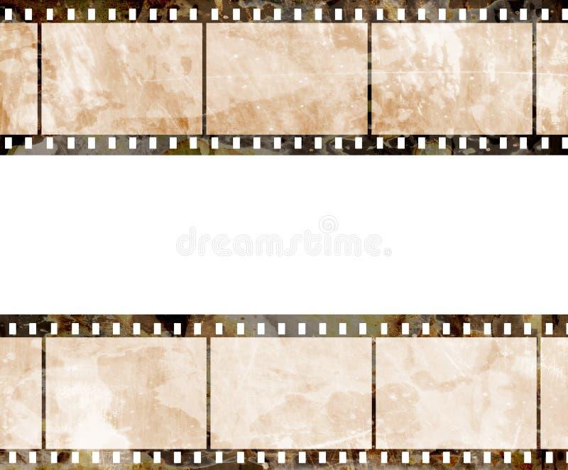 Vieja tira de la película ilustración del vector