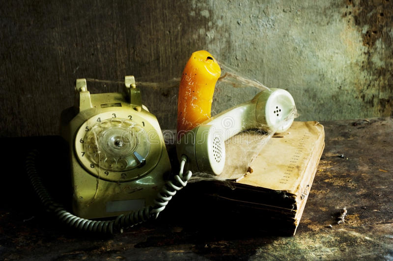 Vieja todavía del teléfono vida imagenes de archivo