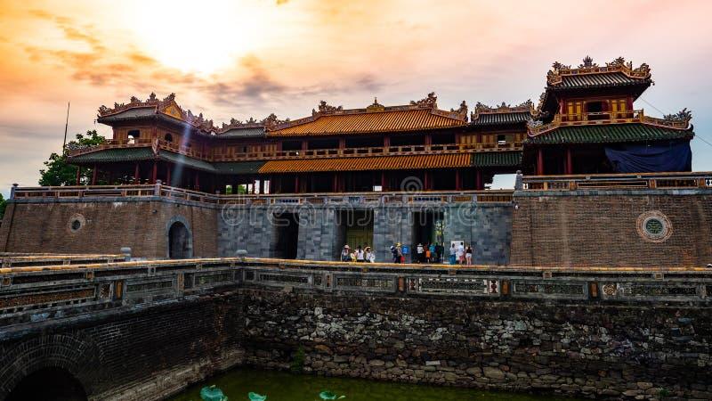 Vieja tonalidad imperial de la ciudad de Vietnam Unseco imagenes de archivo