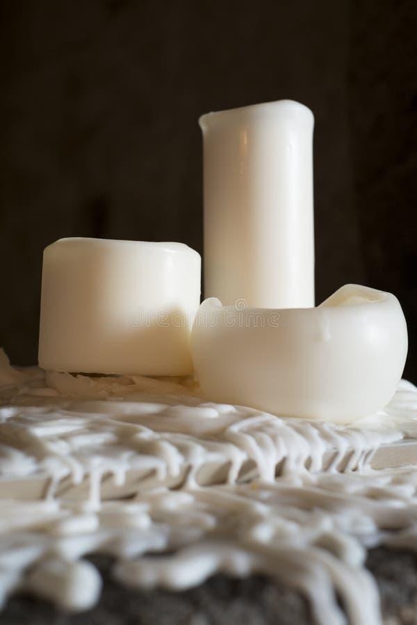 Vieja vela blanca foto de archivo