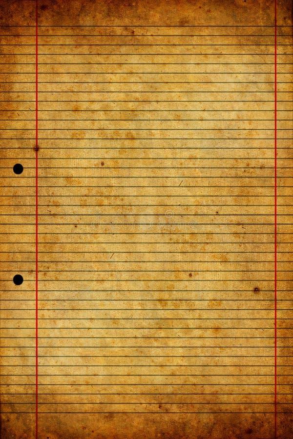Vieja y gastada textura de papel ilustración del vector