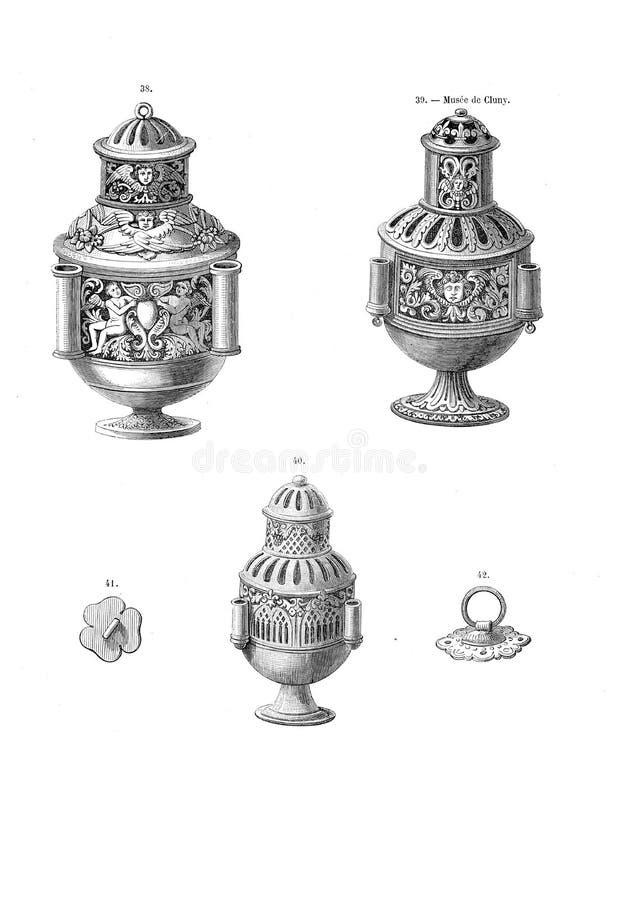Vieja y hostorical imagen stock de ilustración