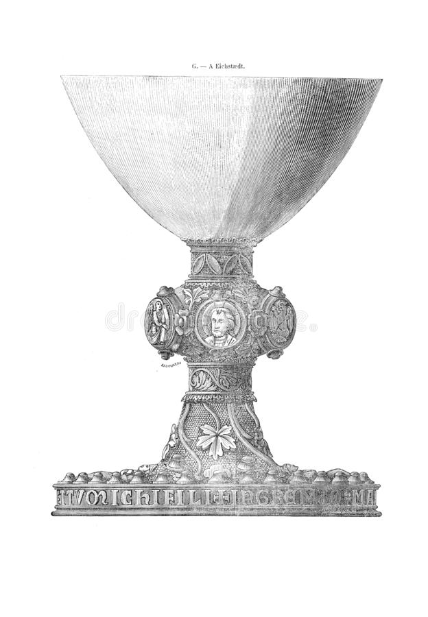 Vieja y hostorical imagen ilustración del vector