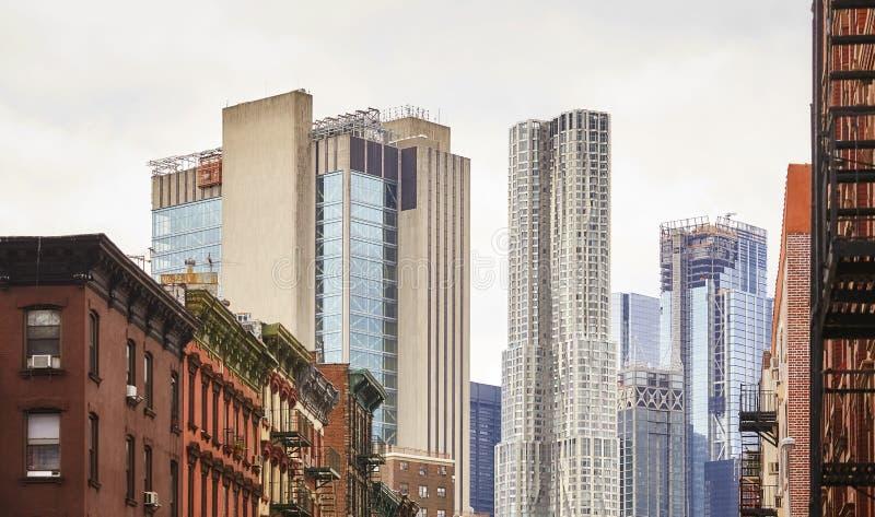 Vieja y moderna arquitectura de Manhattan, Nueva York fotos de archivo libres de regalías