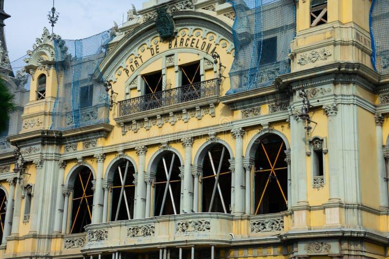 Viejas aduanas que construyen bajo restauración Puerto viejo foto de archivo libre de regalías