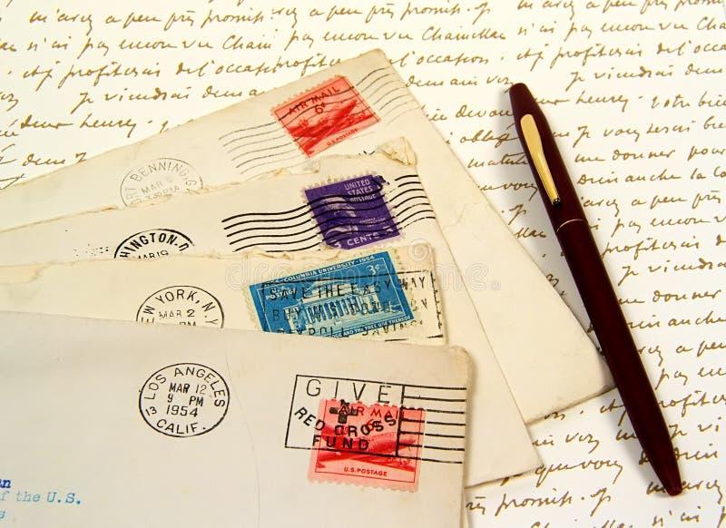 Viejas cartas imagen de archivo