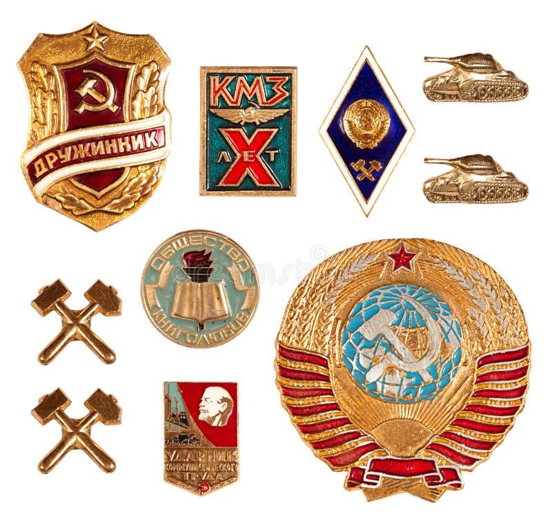 Viejas divisas soviéticas foto de archivo