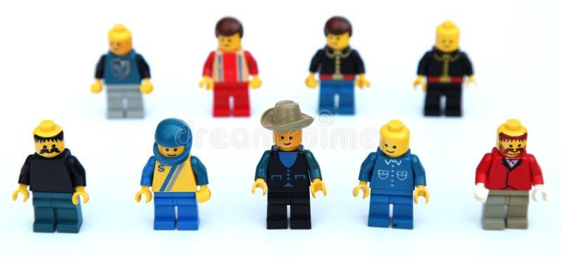 Viejas figuras de Lego fotografía de archivo