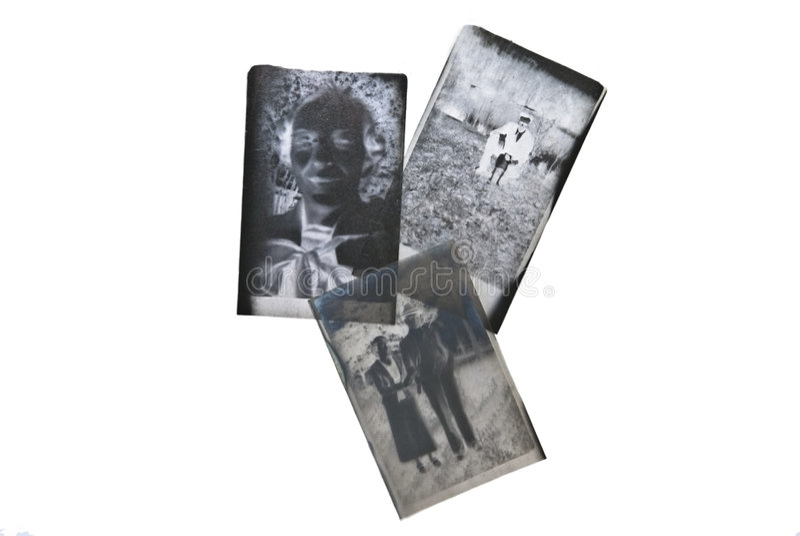 Viejas negativas de la gente imágenes de archivo libres de regalías
