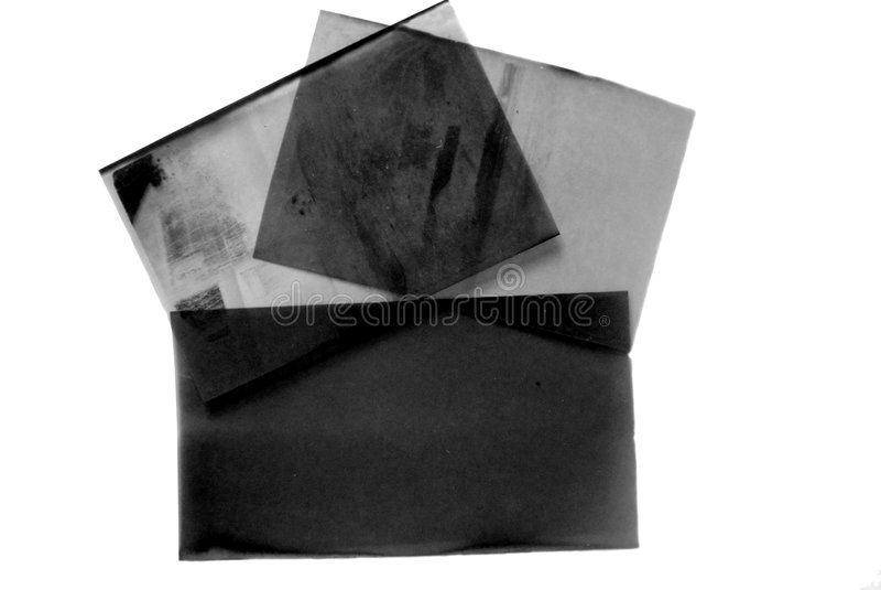 Viejas negativas en blanco imagenes de archivo