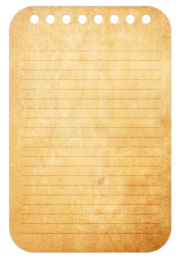 Viejas notas del papel de la vendimia stock de ilustración