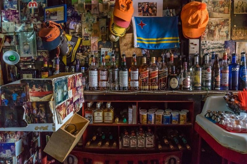 Viejas opiniones de Otrobanda Curaçao de la barra fotos de archivo libres de regalías