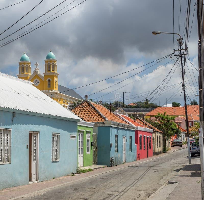 Viejas opiniones de Otrobanda Curaçao de la calle fotos de archivo