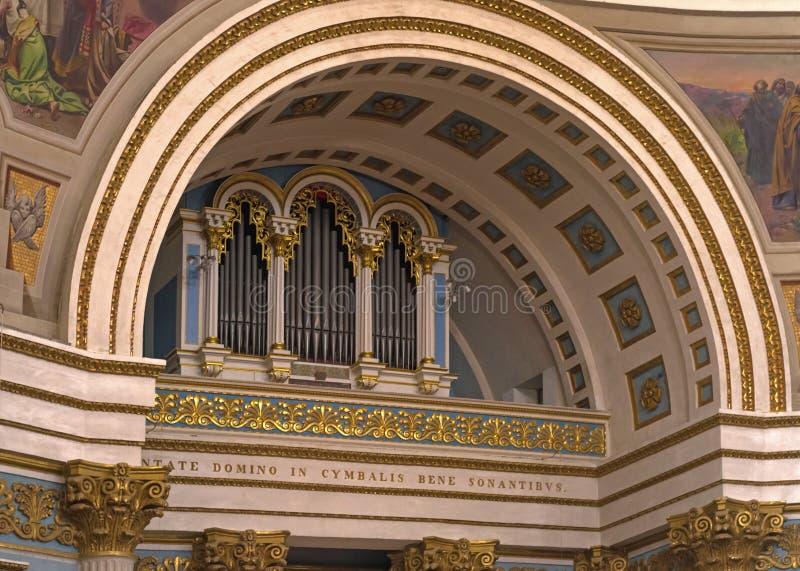 Viejo órgano de la iglesia imágenes de archivo libres de regalías