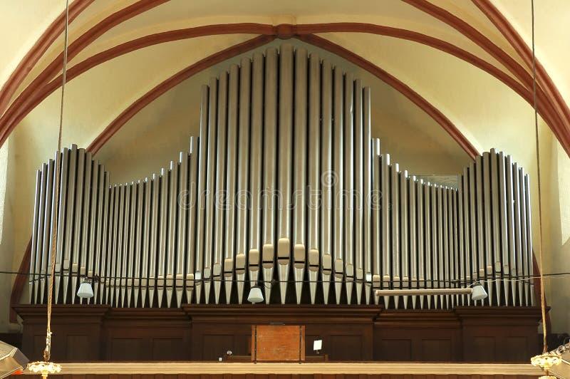 Viejo órgano de tubo grande foto de archivo libre de regalías