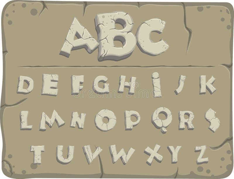 Viejo alfabeto de piedra libre illustration