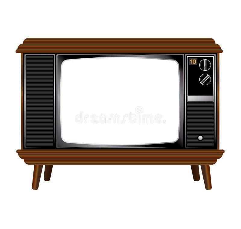 Viejo aparato de TV ilustración del vector