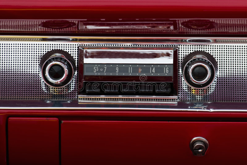 Viejo audio del coche imagen de archivo