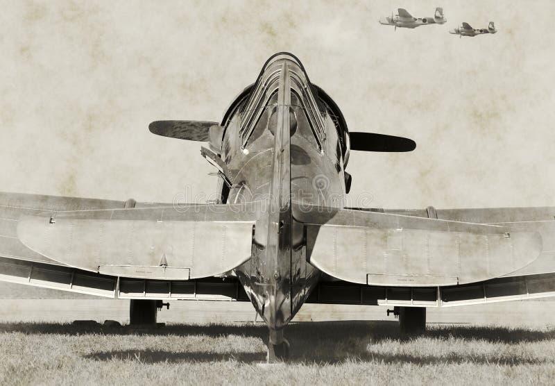 Viejo avión de combate fotos de archivo