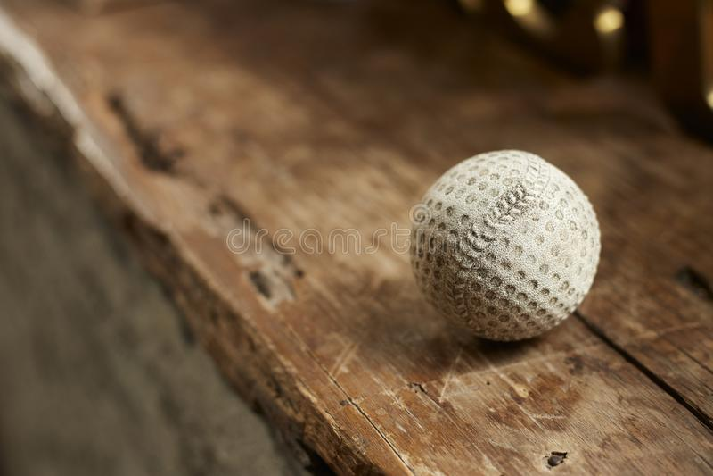Viejo béisbol del vintage de madera foto de archivo