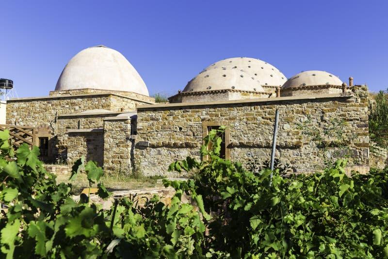 Viejo baño restaurado del otomano, Hamam en turco, en la isla de Quíos, Grecia imagen de archivo libre de regalías