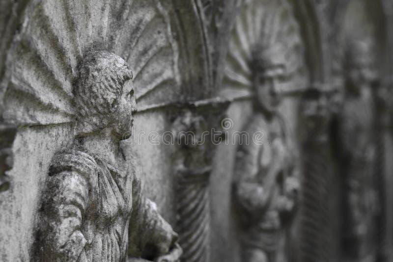 Viejo bajorrelieve monocromático , Arkadia Polonia imagen de archivo libre de regalías