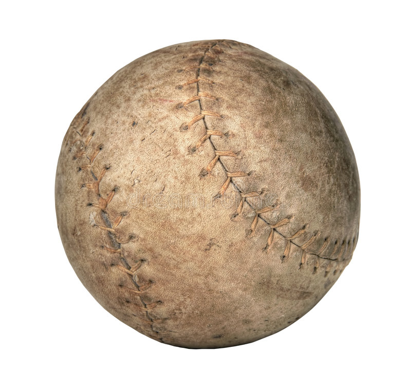 Viejo beísbol con pelota blanda foto de archivo libre de regalías