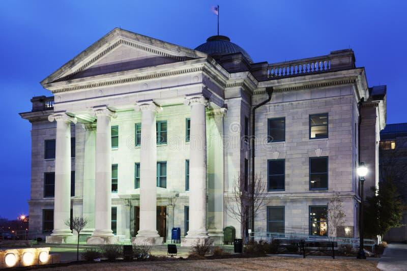 Viejo Boone County Courthouse en Columbia fotos de archivo