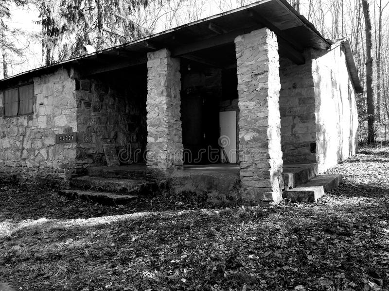 Viejo campo foto de archivo