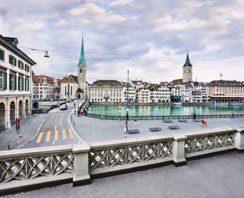 Viejo centro de ciudad de Zurich, Suiza fotografía de archivo libre de regalías