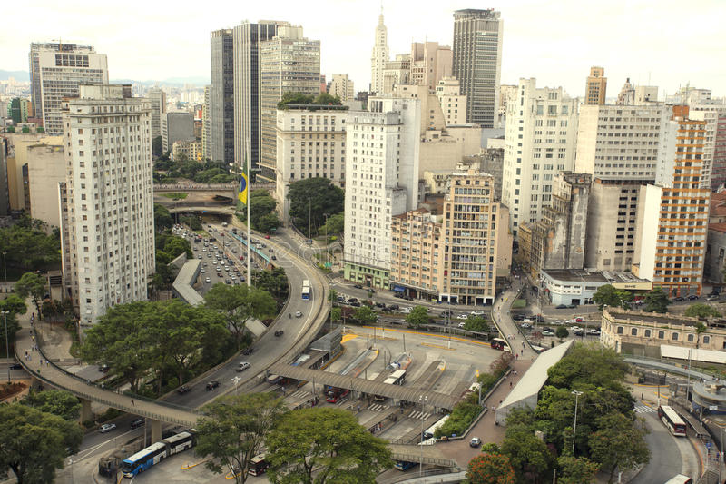 Viejo centro de São Pablo fotografía de archivo