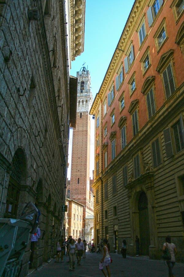 Viejo centro de Siena imagen de archivo