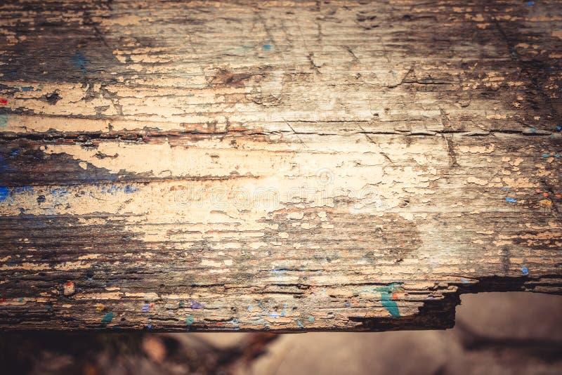 Viejo cierre de madera lamentable de la superficie para arriba fotos de archivo
