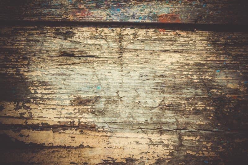 Viejo cierre de madera lamentable de la superficie para arriba imagenes de archivo