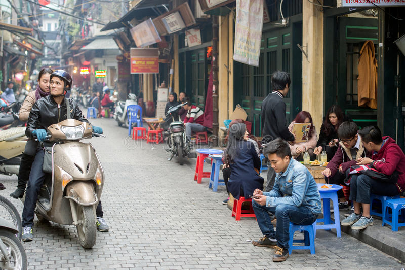 Viejo cuarto de Hanoi imagenes de archivo