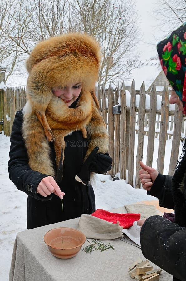 Viejo día de fiesta eslavo Kalyada imágenes de archivo libres de regalías