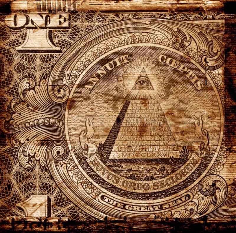 Viejo dólar americano fotos de archivo