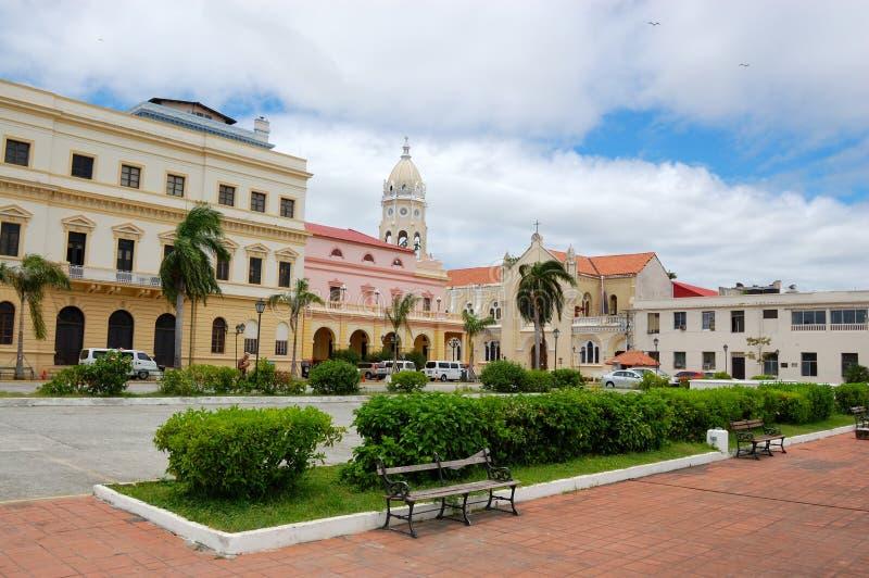 Viejo del casco de Panama City fotos de archivo
